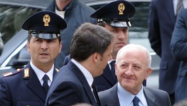 Premier Renzi su De Luca: ha titolarità, diritto e dovere di governare la Campania
