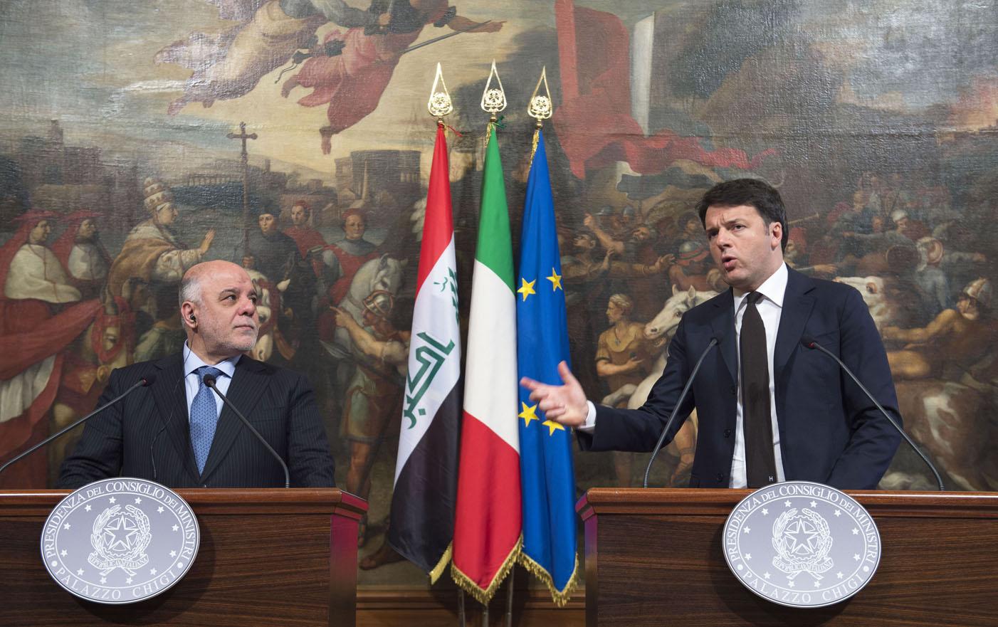 Renzi incontra premier Iraq Al Abadi a Roma: insieme nella lotta contro Daesh e per la sicurezza dell'area