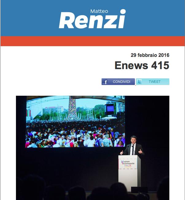 """Enews Renzi, sulle primarie Pd a Roma: """"Che vincano i migliori, che vinca la Politica"""". Alla Ue: """"Si occupi di cose serie, che rilanci la crescita"""""""
