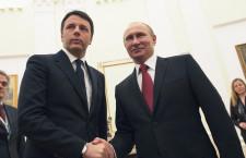 """Renzi al Cremlino. Putin:  """"Dialogo con Italia attivo"""""""
